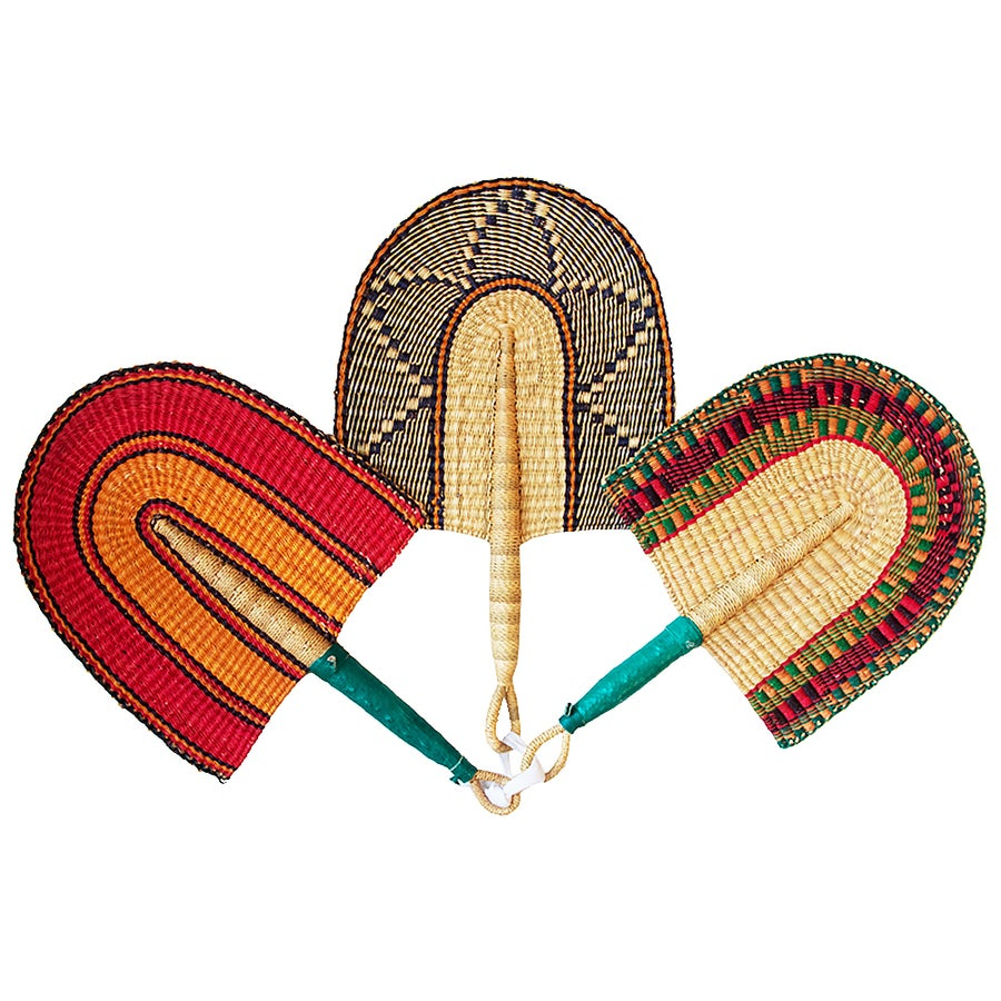 Image of Bolga Hand Fan Smoky