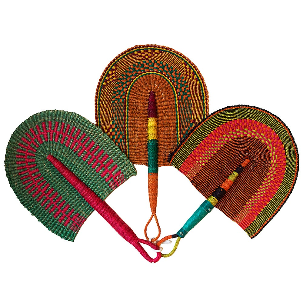 Image of Bolga Hand Fan Sweet