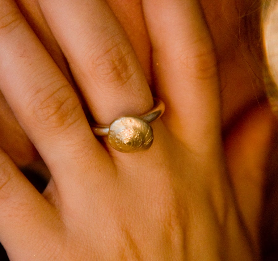 Image of Seashell swirl ring