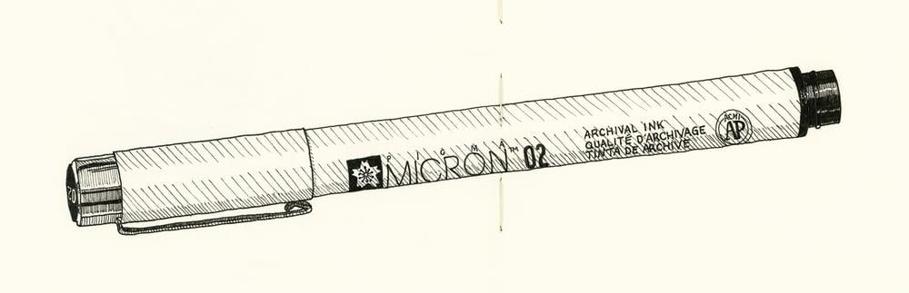 Image of Inktober #6 - Micron