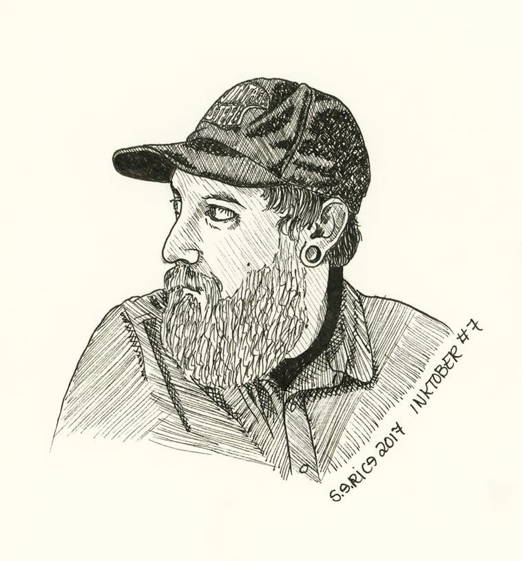 Image of Inktober #7 - Josh