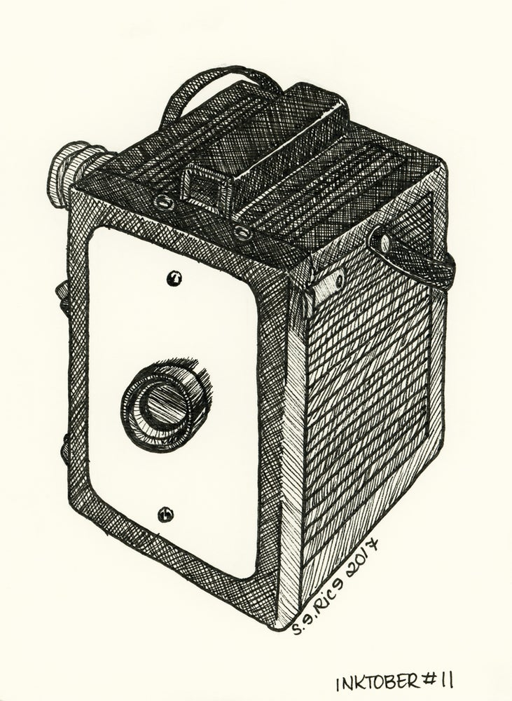Image of Inktober #11 - Box Camera