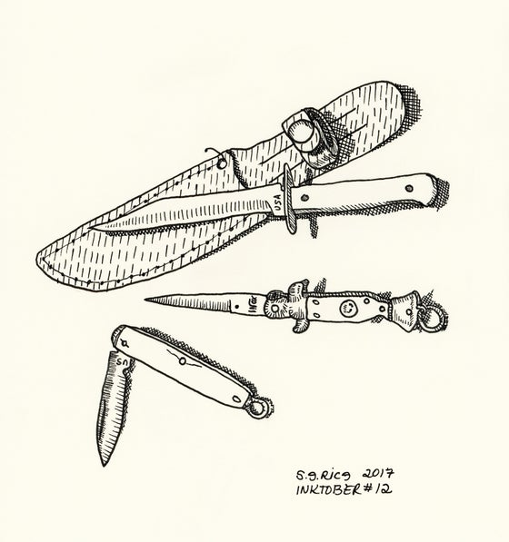 Image of Inktober #12 - Pen Knives