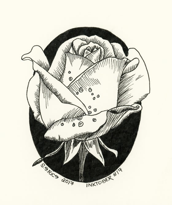 Image of Inktober # 17 -Rose