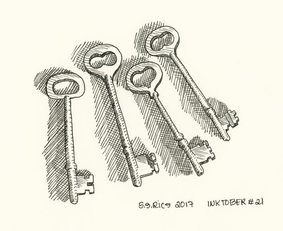 Image of Inktober # 21 - Keys