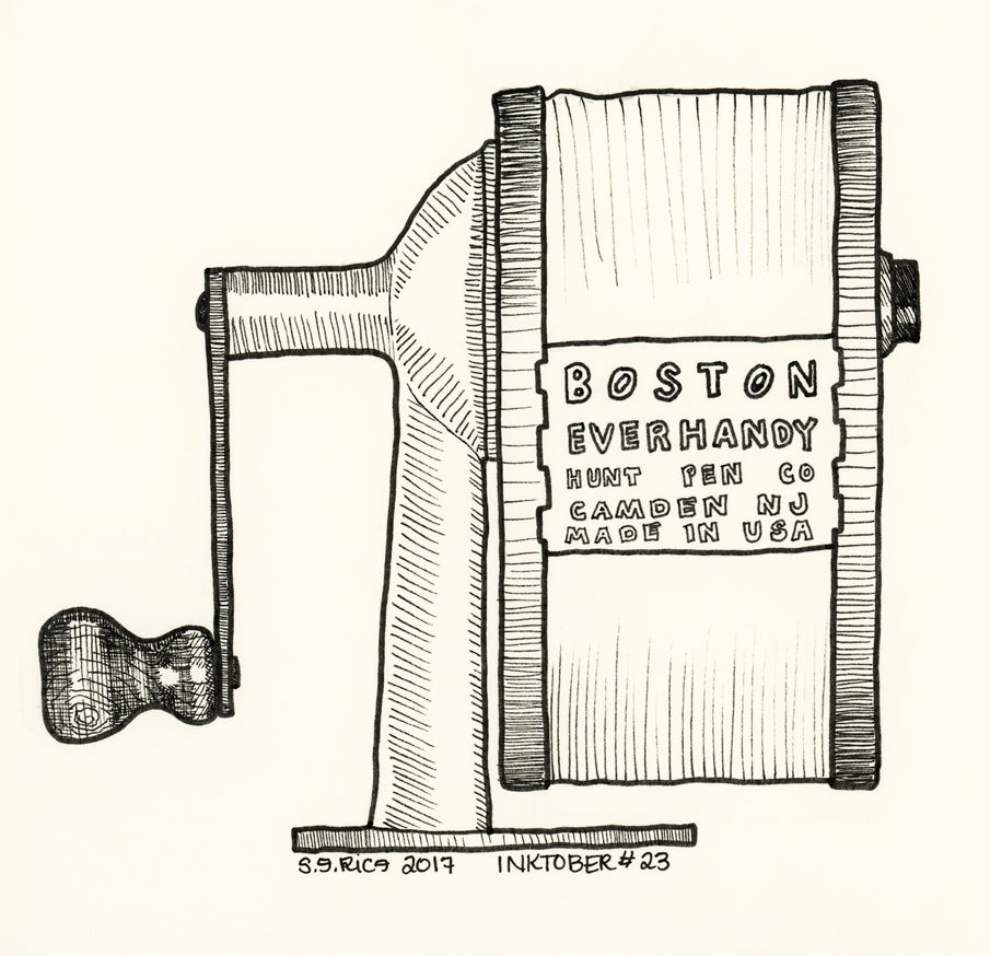 Image of Inktober #23 - Pencil Sharpener