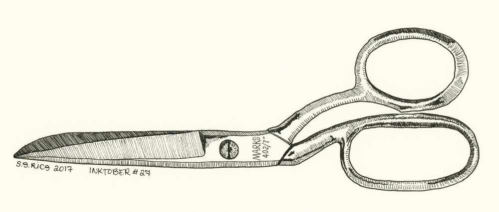 Image of Inktober #27 - Shears