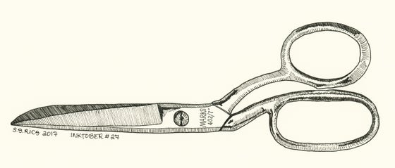 Image of Inktober #27 - Shears