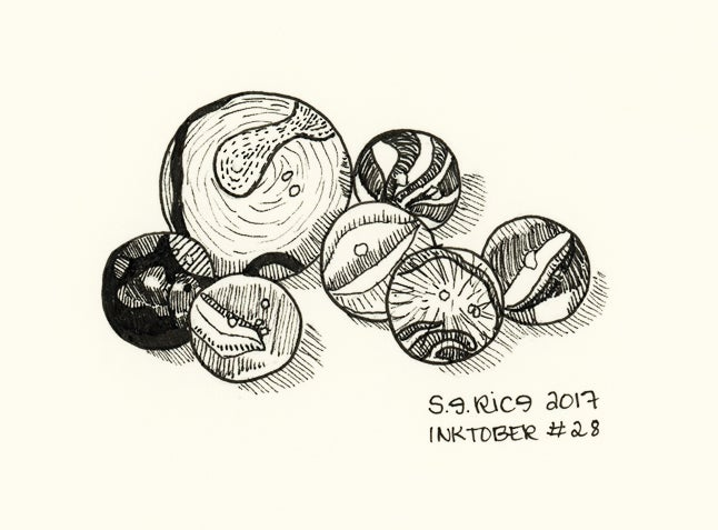 Image of Inktober #28 - Marbles