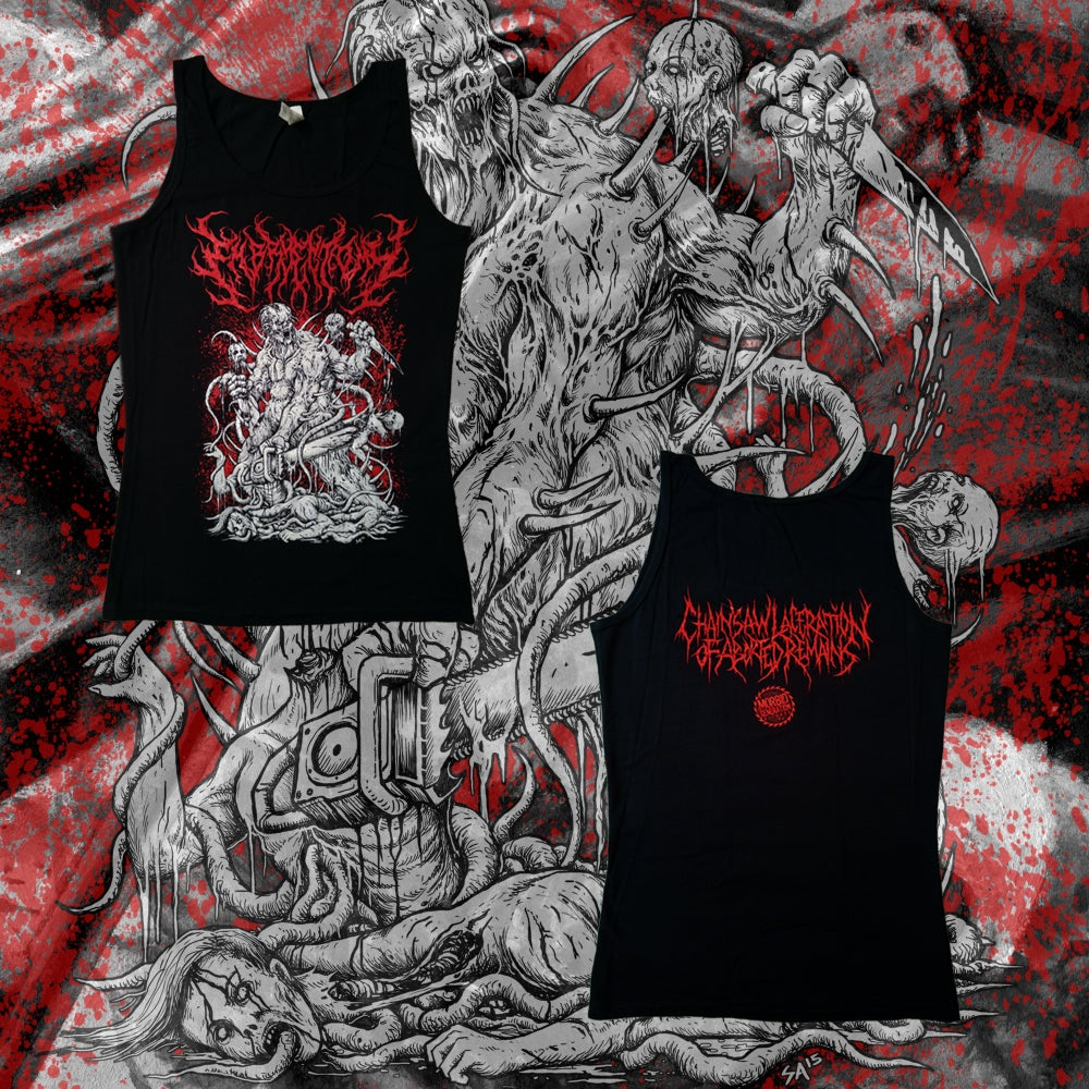 "Image of ""Chainsaw Laceration of Aborted Remains"" Women's Tank Top"