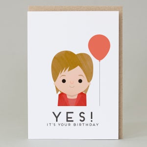 Image of Yes! its your birthday Card