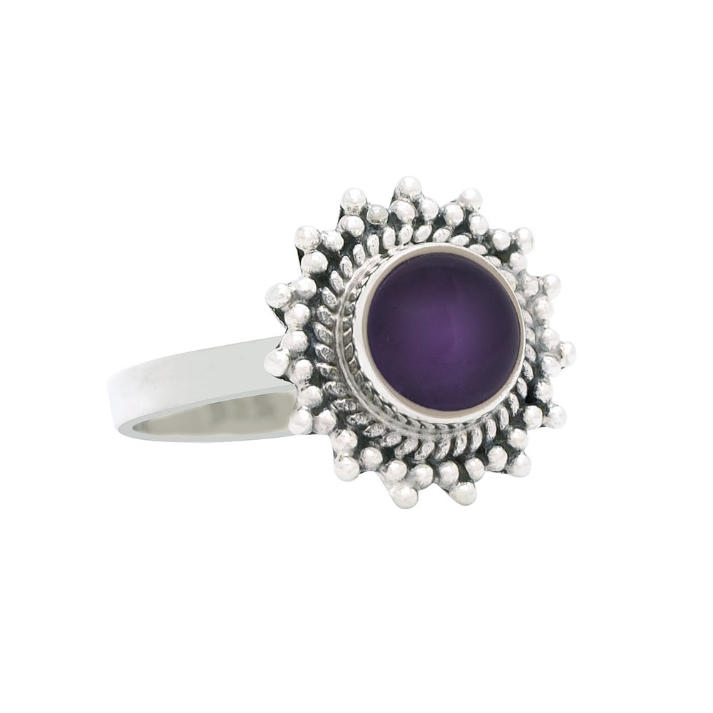 Image of Sterling Silver & Amethyst Solstice Ring.