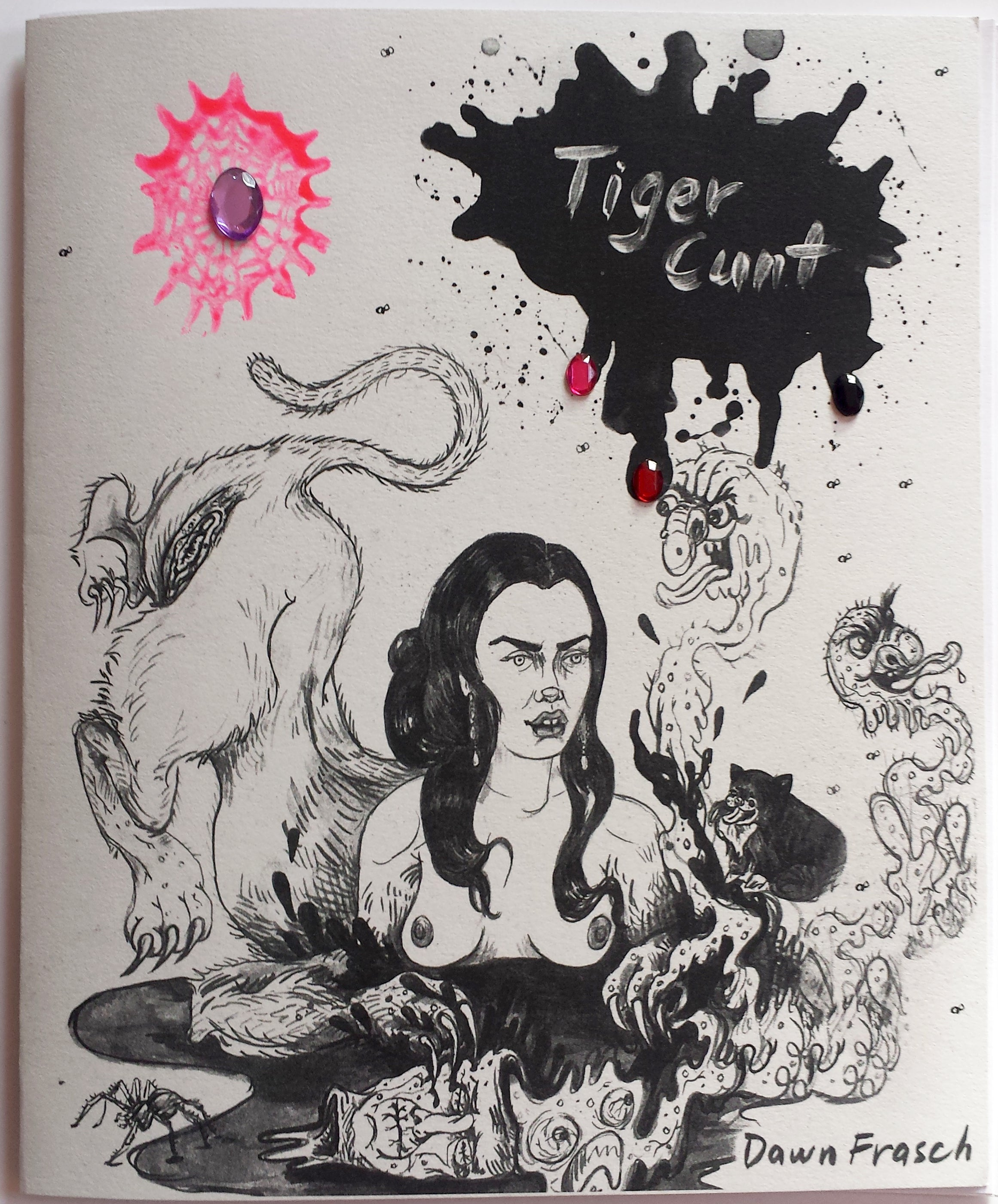 Tiger Cunt Zine (with pin option)