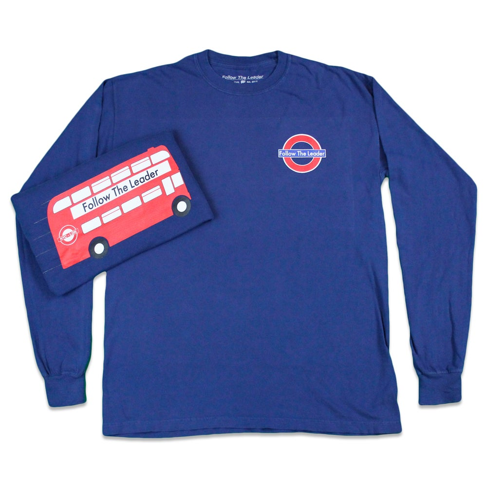 Image of London Connect Long Sleeve tee (Navy)