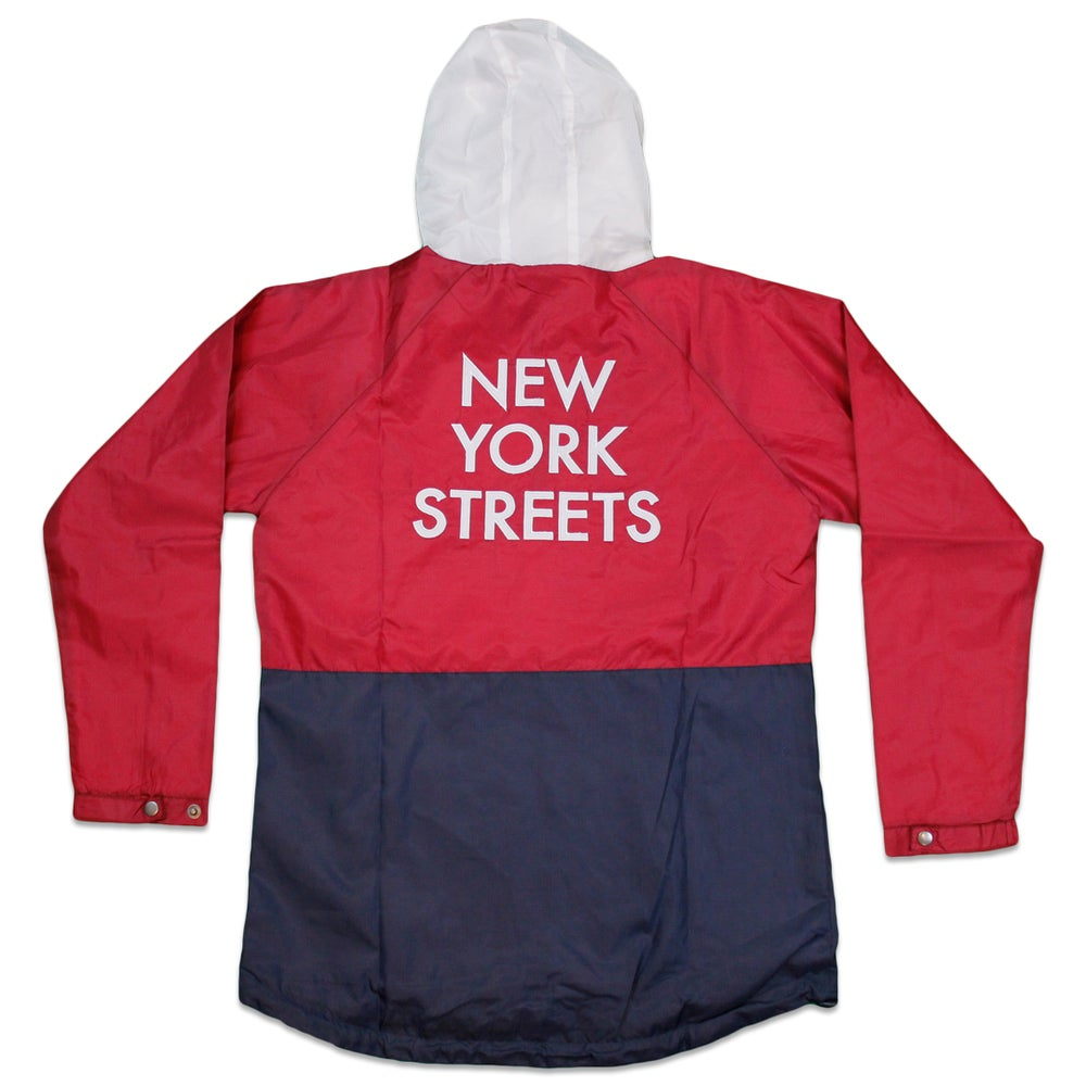Image of New York Streets Anorak Jacket (Navy/Maroon/White)