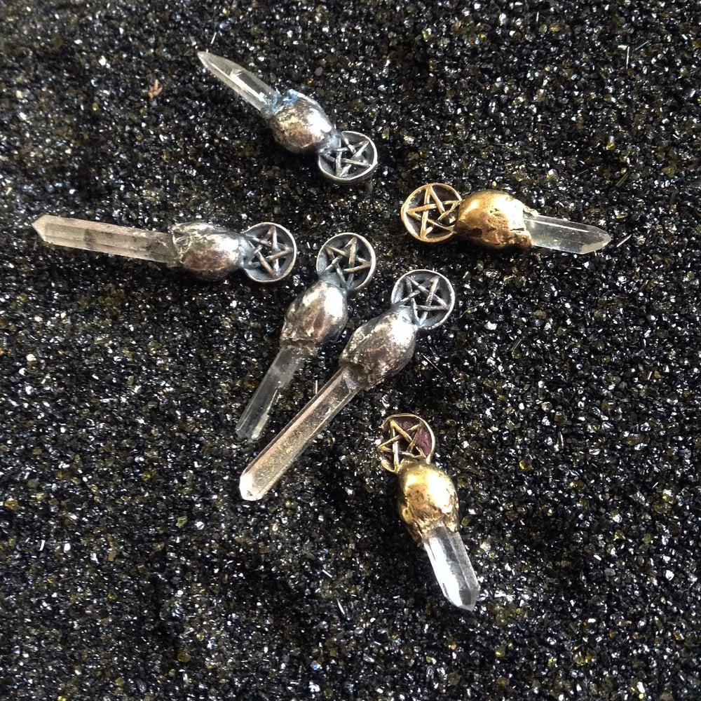 Image of Pentacle Post Earrings