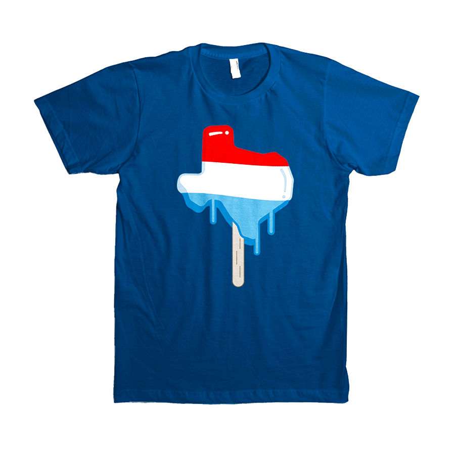 Image of Texas Popsicle t-shirt - Cool Blue