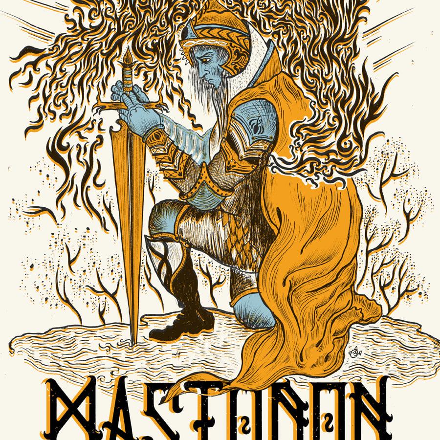 MASTODON (Paris 2017) screenprinted poster