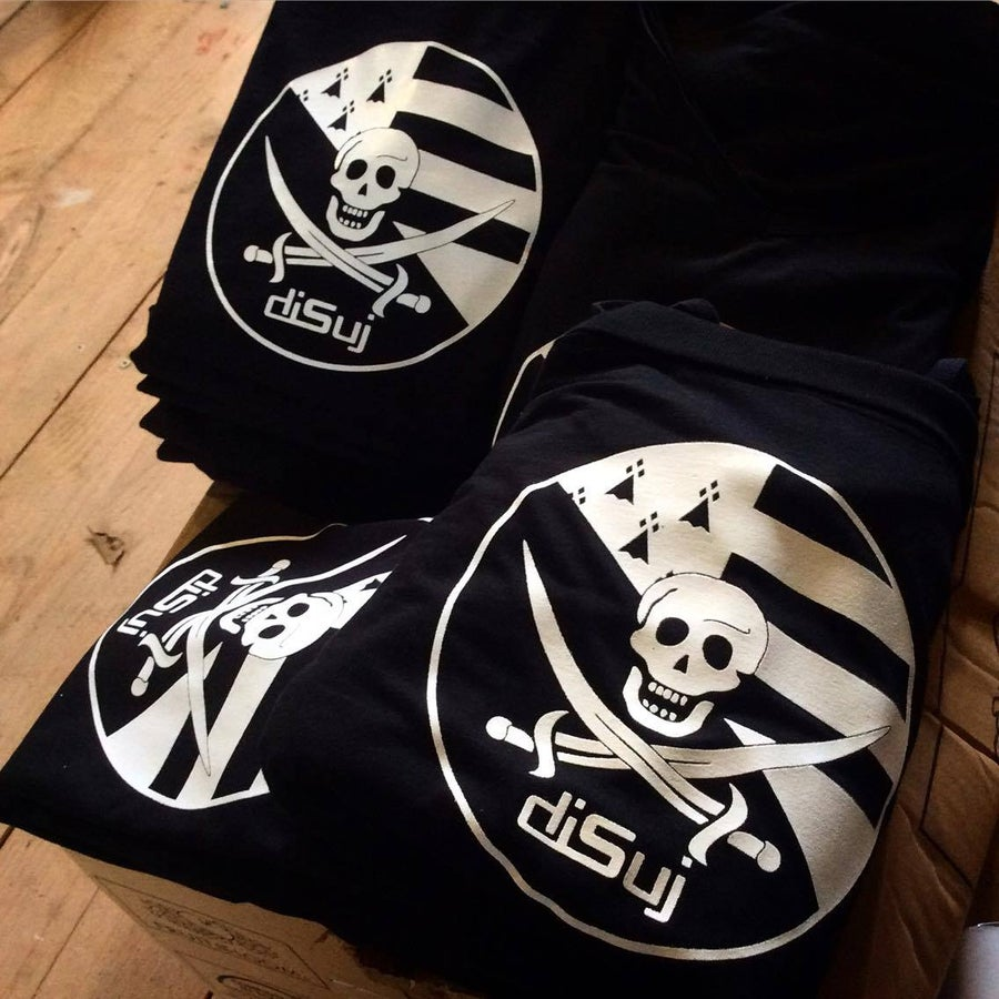 "Image of T-shirt noir ""Pirate Breton"""