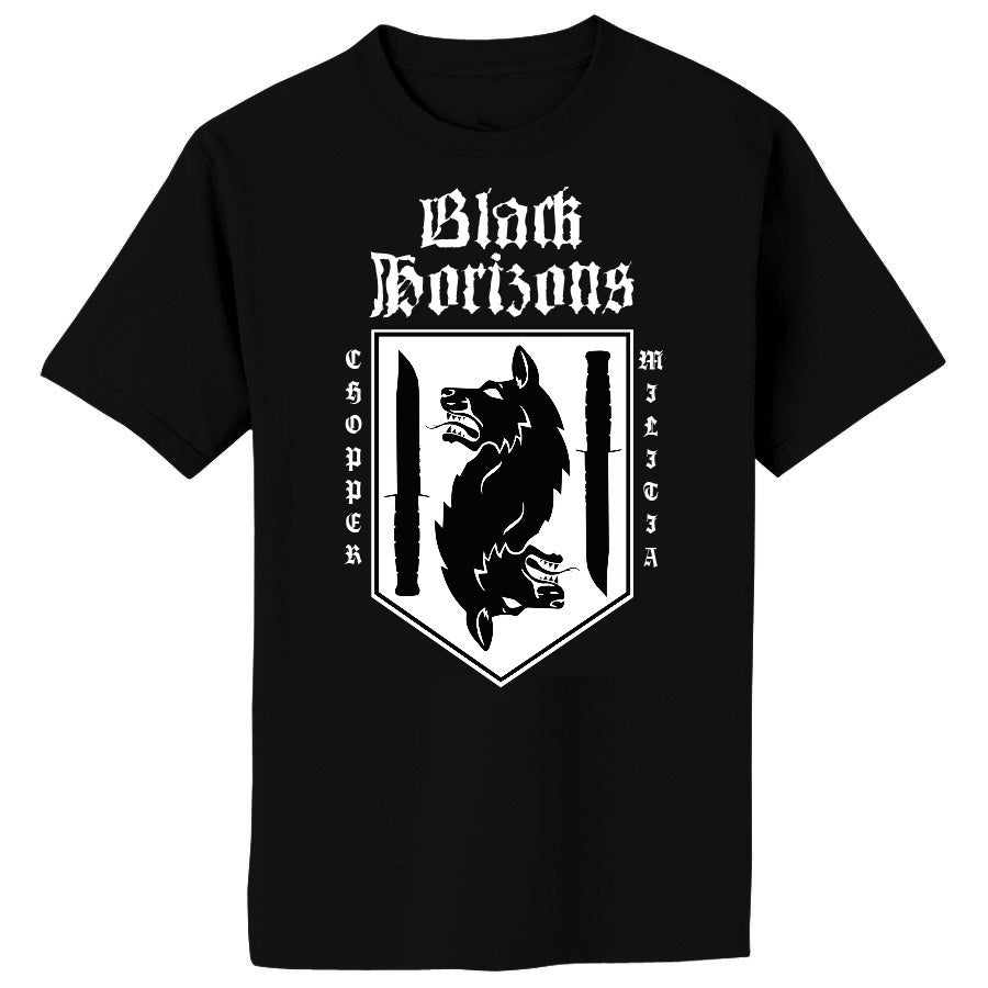 Image of BLACK HORIZONS Chopper Militia Shirt