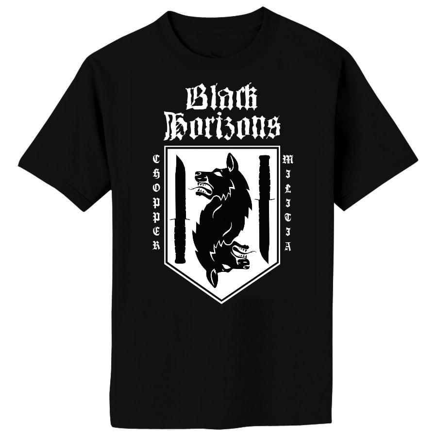 Image of BLACK HORIZONS Chopper Militia Shirt