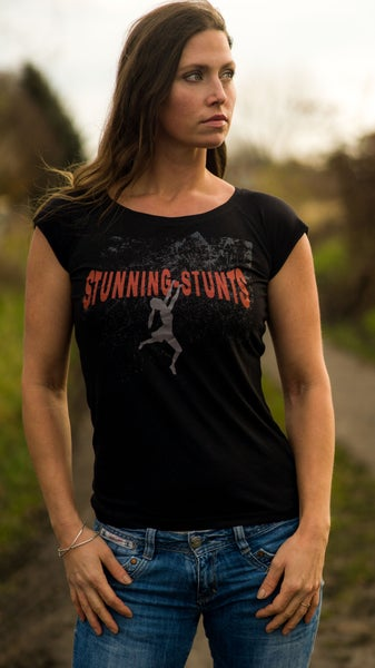 Image of Stunning-Stunts Bamboo-Shirt black