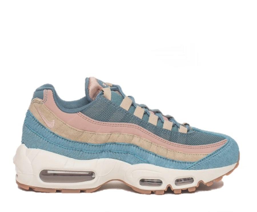 Image of NIKE AIR MAX 95 MUTLI LUX EMBOSSED FUR SMOKEY BLUE AA1103-002