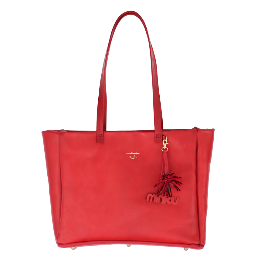 Image of Isegun tote with top zipper