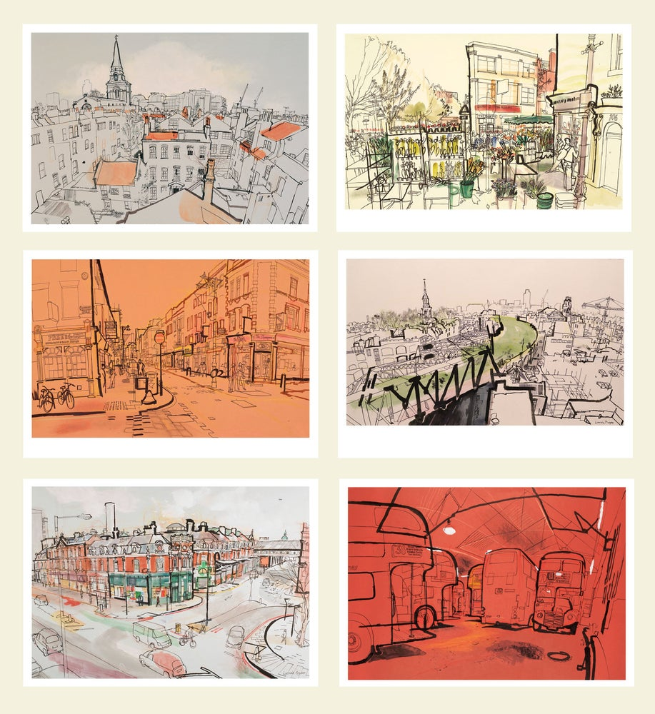 Image of Greetings cards - London - set of 6