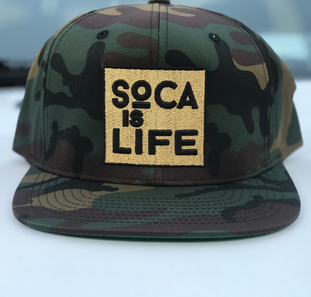 Image of Soca Is Life Camo Snap Back Version 1