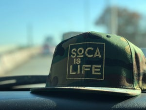 Image of Soca Is Life Camo Snap Back Version 2