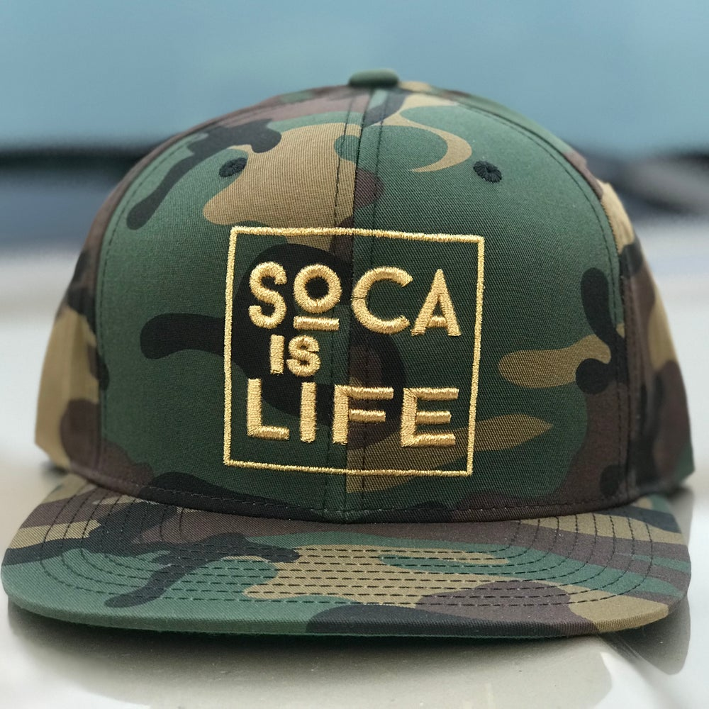 Image of Soca Is Life Camo Snap Back Ver 2