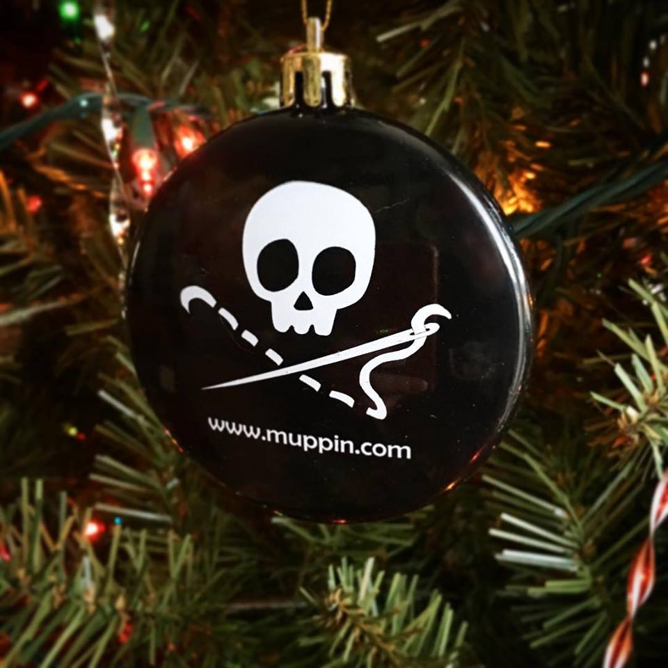 Sewing Skull Ornament