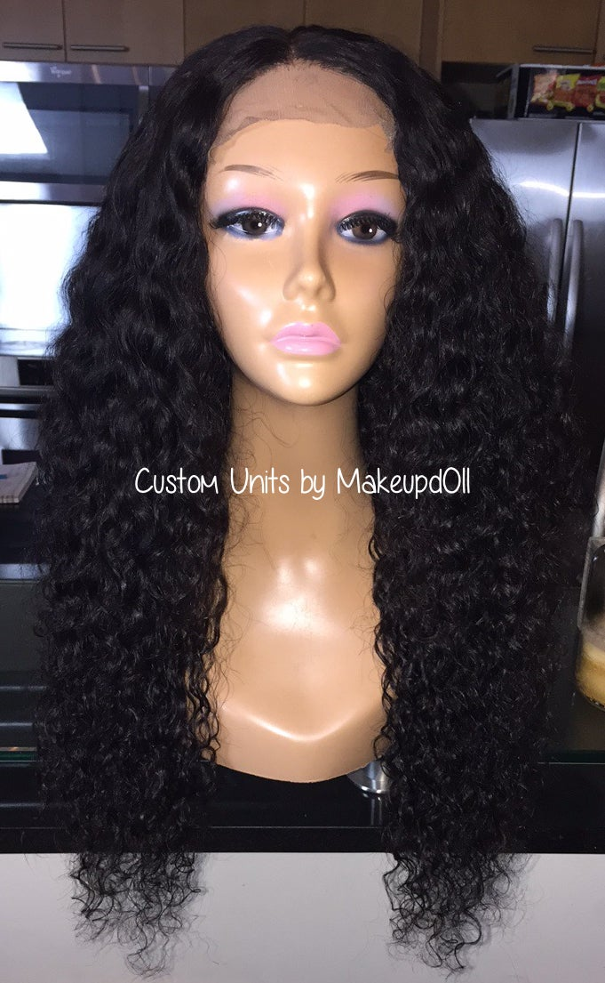 "Image of Indian Wavy/Curly 24"" Custom Wig!"