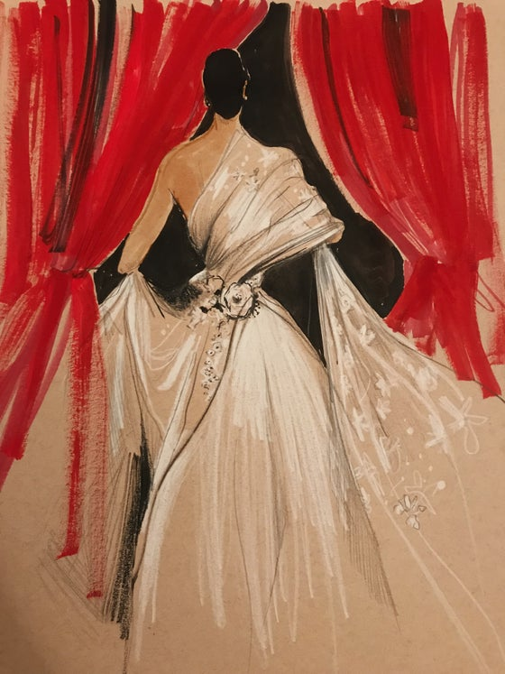 Image of Vintage Dior/Red Curtain