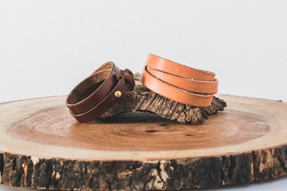 Image of Triple Wrap Leather Bracelet