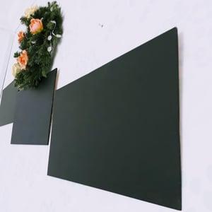 3-Piece Light Frameless Chalkboard