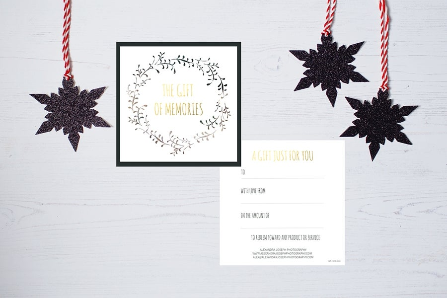 Image of THE GIFT OF MEMORIES - THE CHRISTMAS GIFT CERTIFICATE FROM