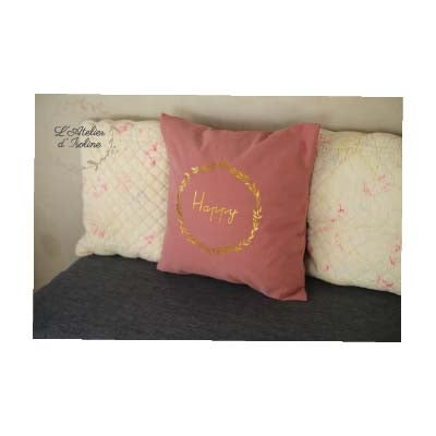 Image of Coussin Happy - Oeko-Tex 100