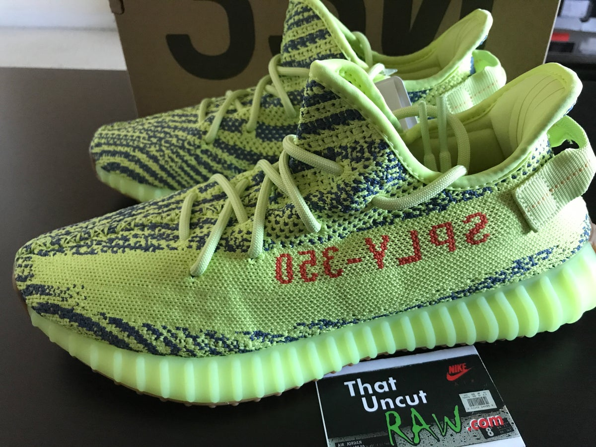 "Image of (SOLD OUT) adidas yeezy 350 v2 ""semi-frozen yellow"", brand new"