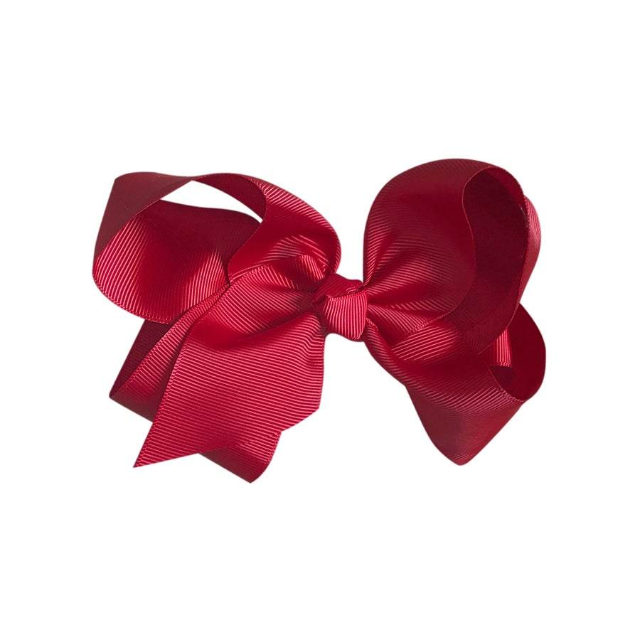 Image of Dark Red Bow Large