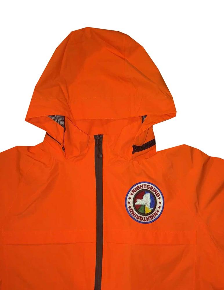 Image of Night Grind Orange Tech Windbreaker
