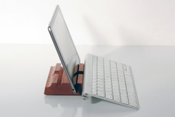 Image of Dual Angle Wooden iPad Stand