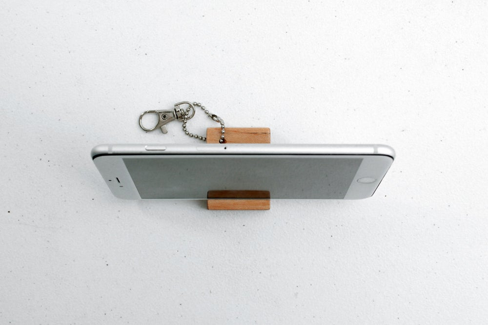 Image of Mini iPhone Keychain Stand
