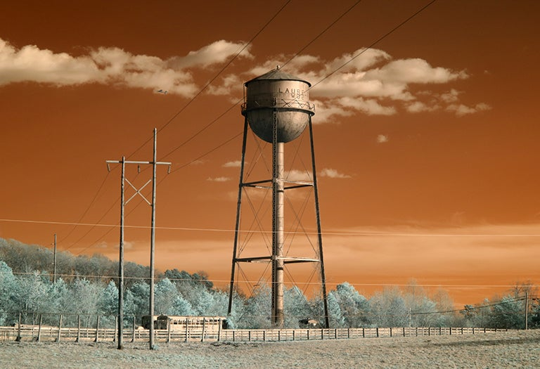 "Image of ""Laurel Water Tower Infrared"" 13x19 Art Print"