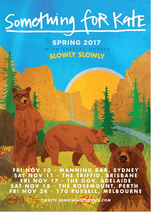 Image of Something for Kate Spring 2017 Tour Poster.