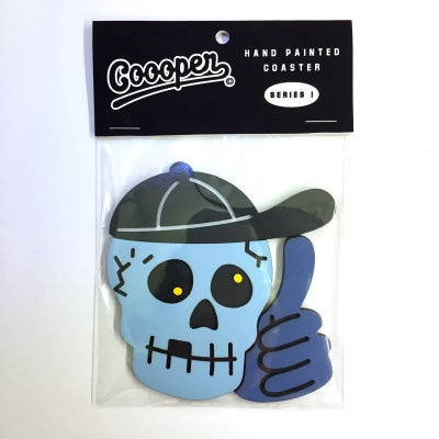 Image of Skull dude coaster by COOOPER