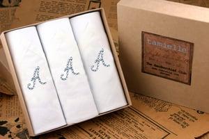 Image of Men's Handkerchiefs 3 initials