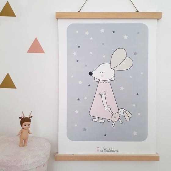Image of Affiche - Souris aux étoiles (A3)