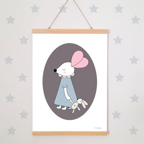 Image of Affiche - Petite souris et son doudou (A3)